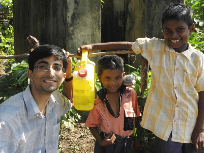 When Dr. Pawan found out about the unhygienic living conditions in Gadchiroli, Maharasthra, India, he created a hand-washing device in just Rs.35 (50 cents) that has been saving the lives of the villagers. - PHOTO: Better India