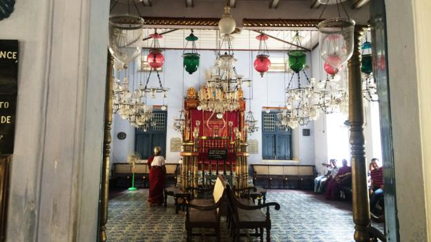 The Paradesi synagogue in Jew Town, Fort Kochi, Kerala.  Credit: Alyssa Pinsker