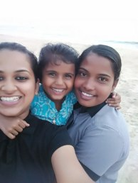 Freezing time with Adoniya and her mother.