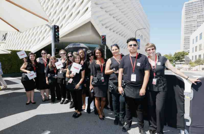 The guards at The Broad Museum in Los Angeles aren't just here to protect the art — they're also expected to engage and educate. They're called visitor services associates, and they've gone through hours and hours of training to become ambassadors for contemporary art. Ryan Miller/Capture Imaging/The Broad Art Foundation
