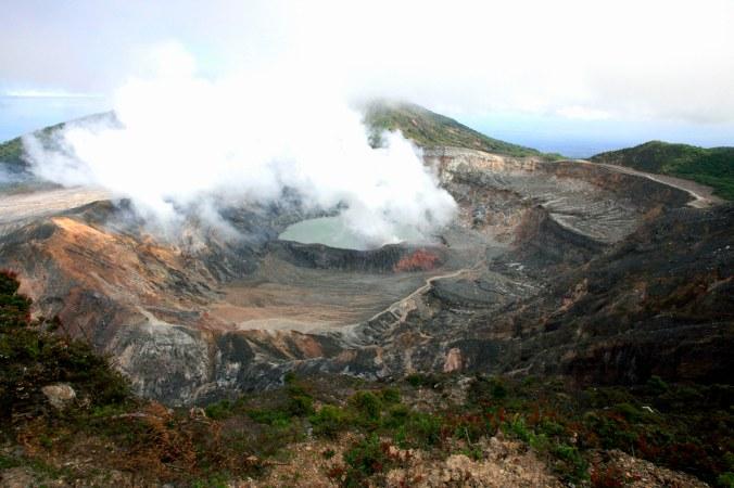 Poas Volcano on a smokey day! photo credit: juan K. Gamboa