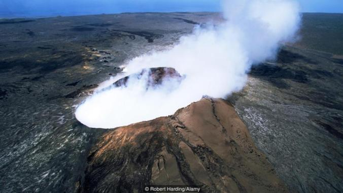 The Pulu O s cinder cone the active vent on the southern flank of the Kilauea volcano UNESCO World Heritage Site Big Island
