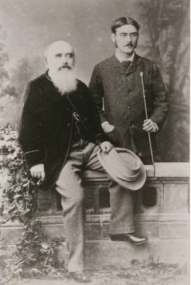 John Lockwood Kipling with his son Rudyard Kipling, 1882. © National Trust/Charles Thomas