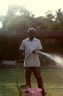 Babu. The maintenance man of The Pepper House.