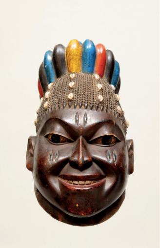 Image credit: Efe/Gelede Mask, Yoruba Culture, Western Nigeria and Benin, Africa. Collection of Dileep and Martha Mehta.