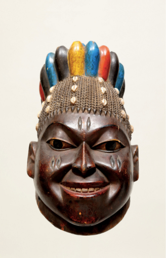 Image credit: Efe/Gelede Mask, Yoruba Culture, Western Nigeria and Benin, Africa. Collection of Dileep and Martha Mehta.